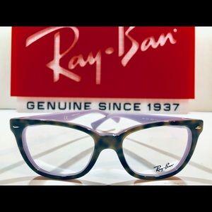 Ray-Ban Eyeglasses Top Havana Brown on Purple New
